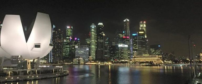 It is possible to do Singapore on a budget...Look at that skyline!