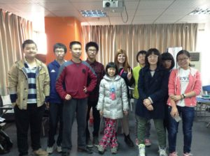 Hanging out with my bright Frontrunner students whilst teaching English in China