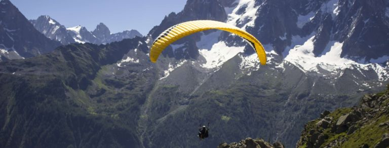 Paragliding in the Alps was an amazing experience!