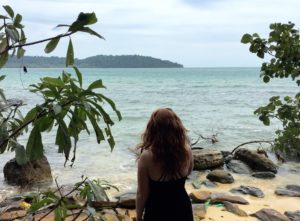 Any good guide to Cambodia will include the breathtaking beaches. Here I am taking in the beauty of the shore.