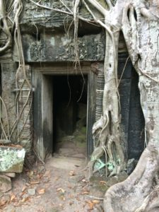 One of the many entrances to the Angkor temples. The Angkor complex is a must see on any guide to Cambodia.