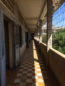 The corridors of S21 prison are an important part of any guide to Cambodia.