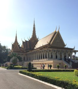 The Royal Palace is a great stop on any guide to Cambodia