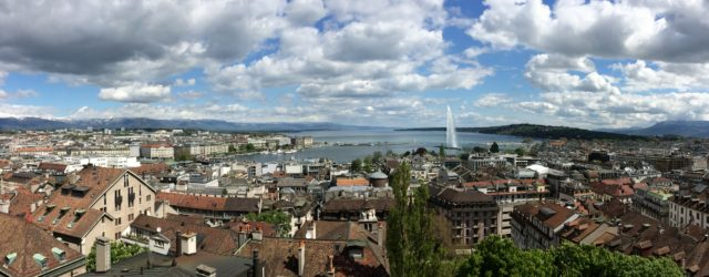 The beautiful Geneva viewed from atop the cathedral.