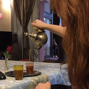 My trying my hand at some fancy Moroccan mint tea pouring!