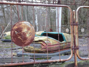 The Chernobyl nuclear disaster prevented the opening of the Pripyat theme park.