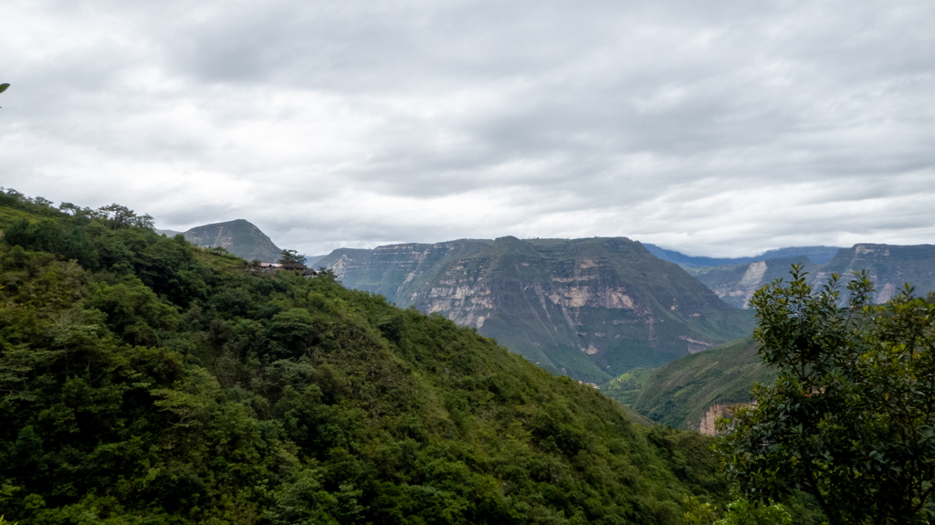 Mountain scenery close to Gocta waterfall