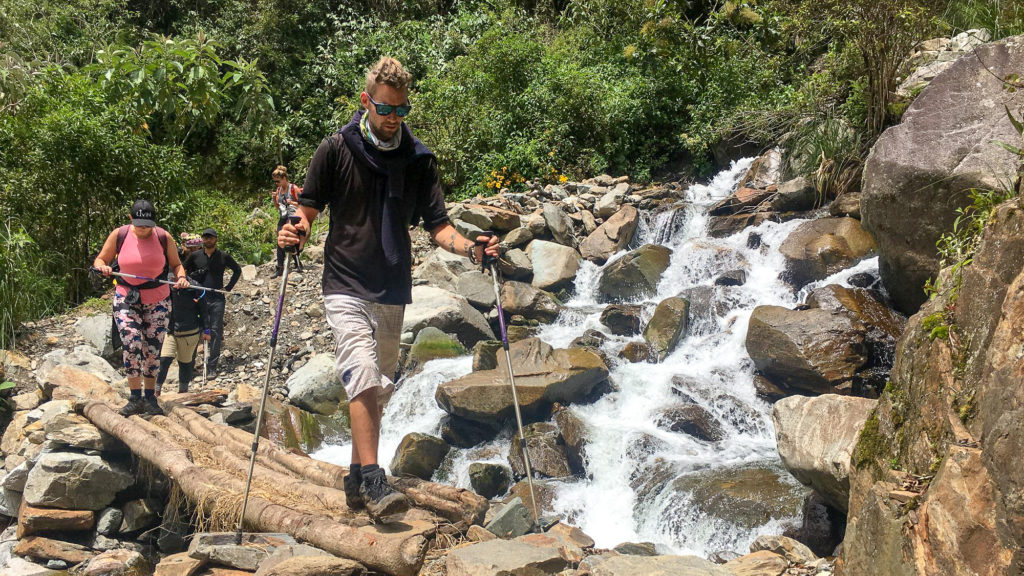 Walking poles are essential for your Salkantay Trek packing list!