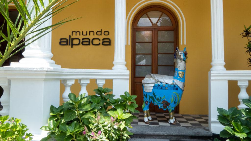 Mundo Alpaca store in Peru