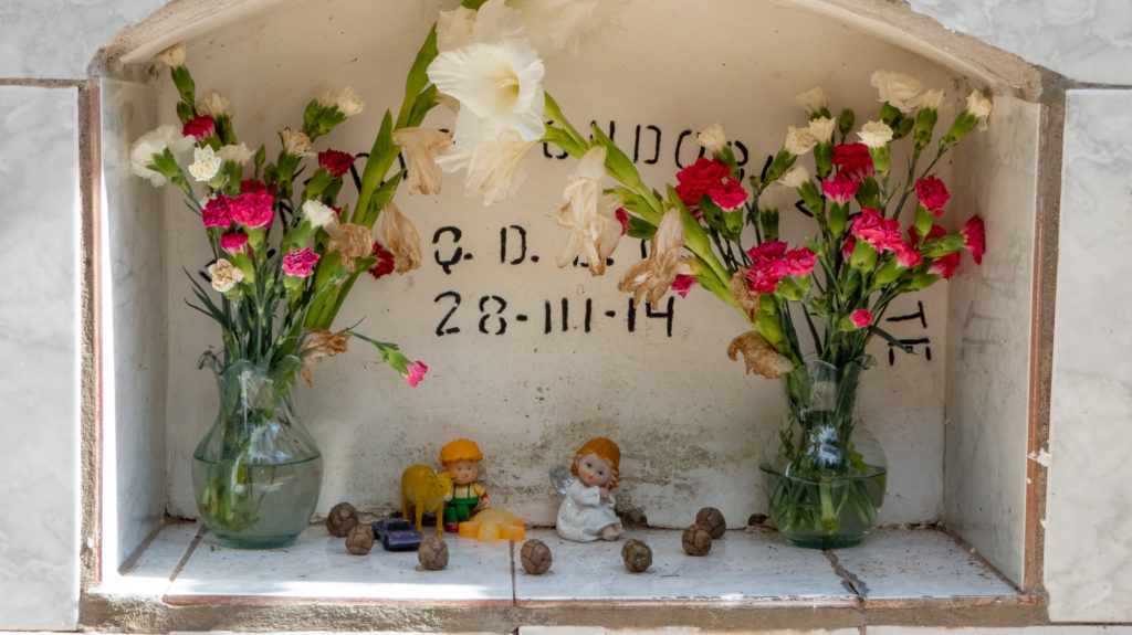 A grave at Sucre Cemetery