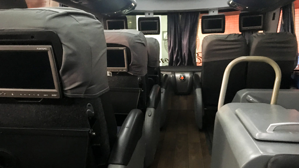 Bus interior- travel journeys from hell