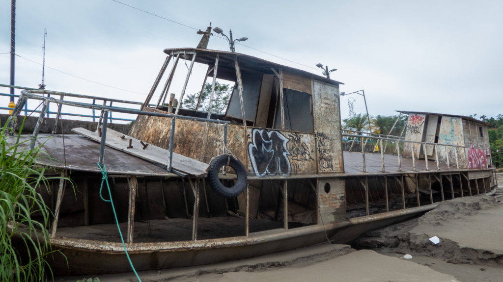 Abandoned boat- journeys from hell