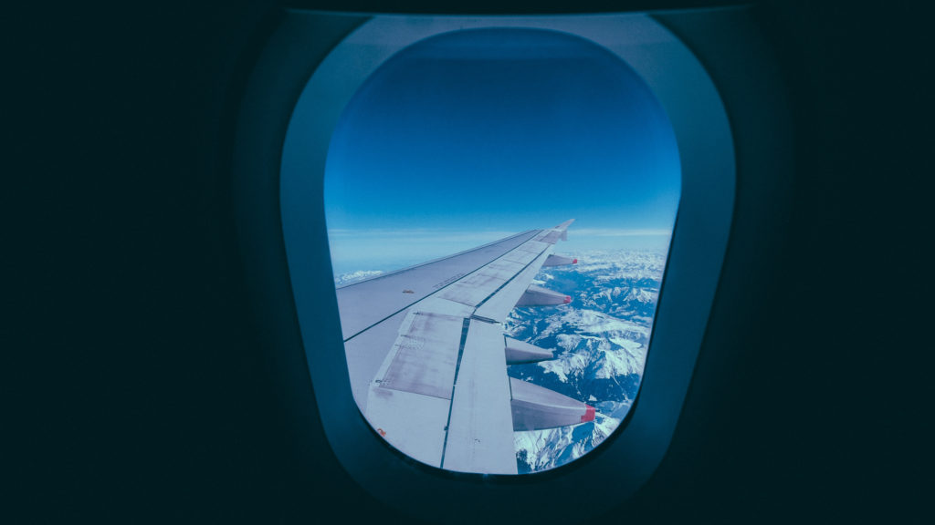 Airplane window - travel journeys from hell