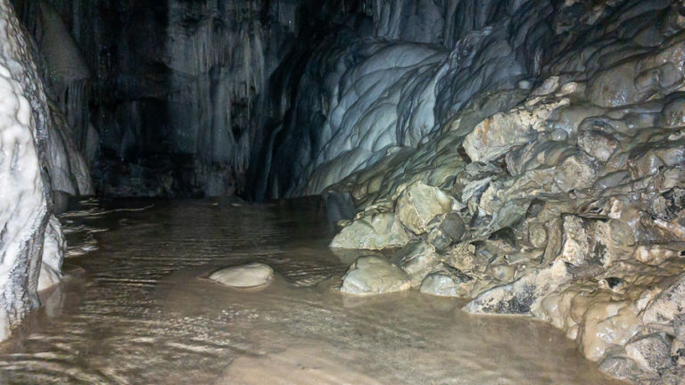 Interior of Spar Cave, Skye