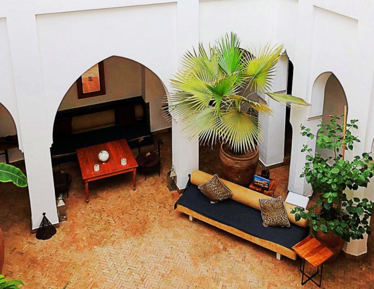 Riad Miski living area