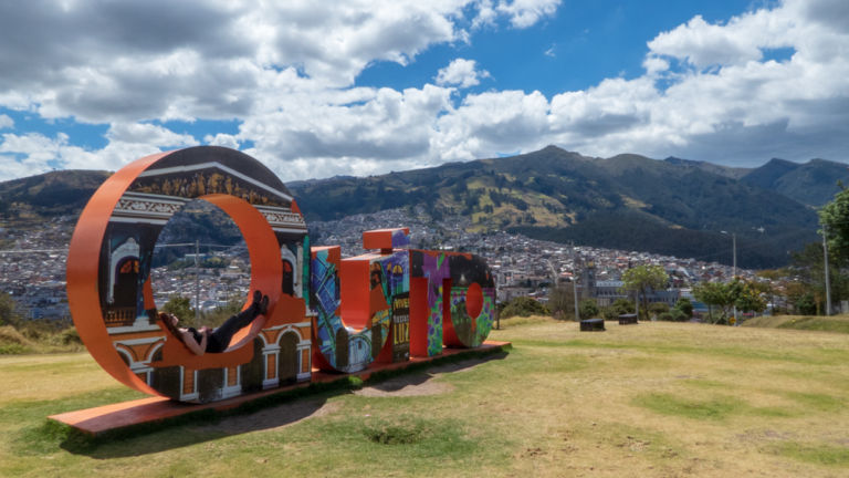 Quito sign in Itchimbia Park