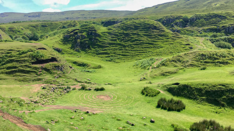 The spiral at the Fairy Glen.