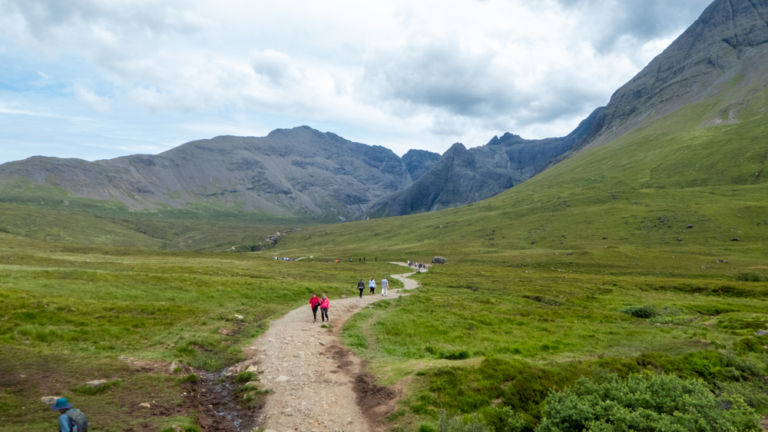 Walking trail to the Fairy Pools