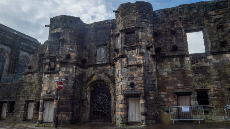 The ruined building of Mar's Walk in Stirling, Scotland.
