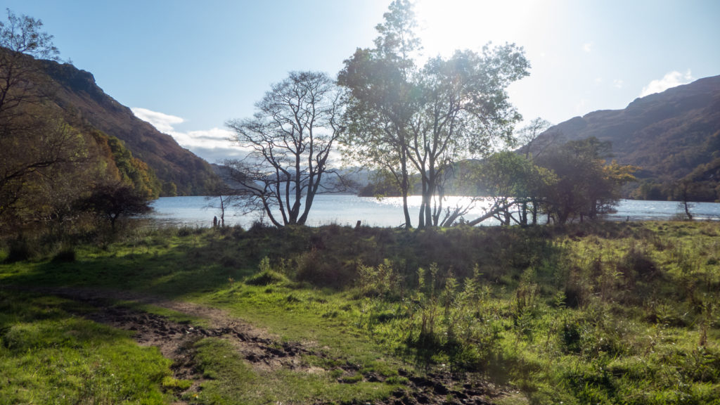 Views over loch on the West Highland Way.