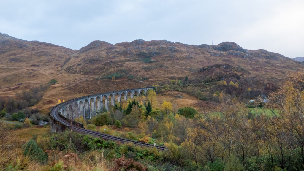 Glenfinnan Viaduct from viewpoint.