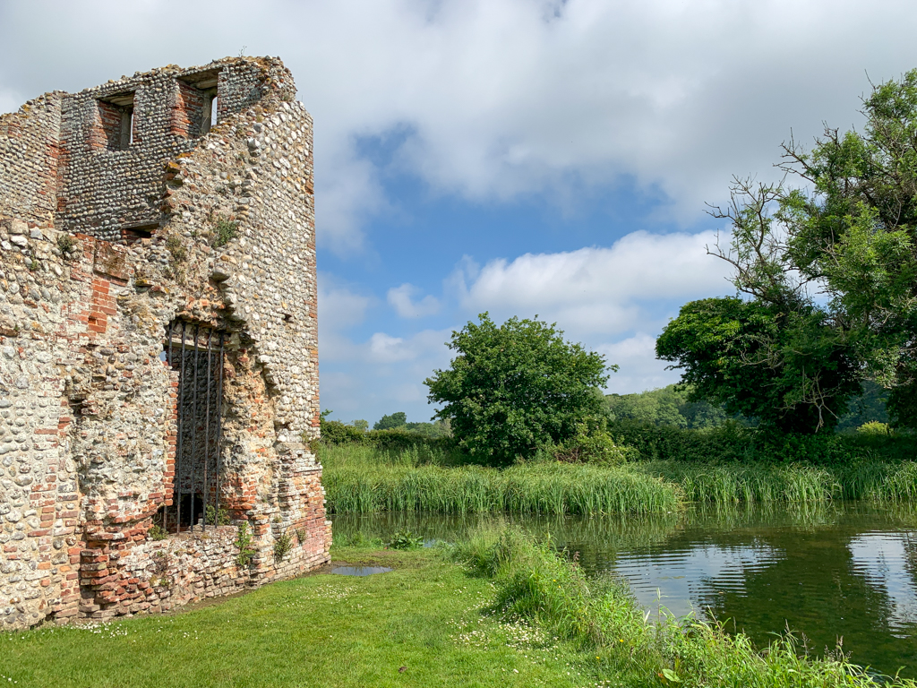 Side of Baconsthorpe Castle close to pond