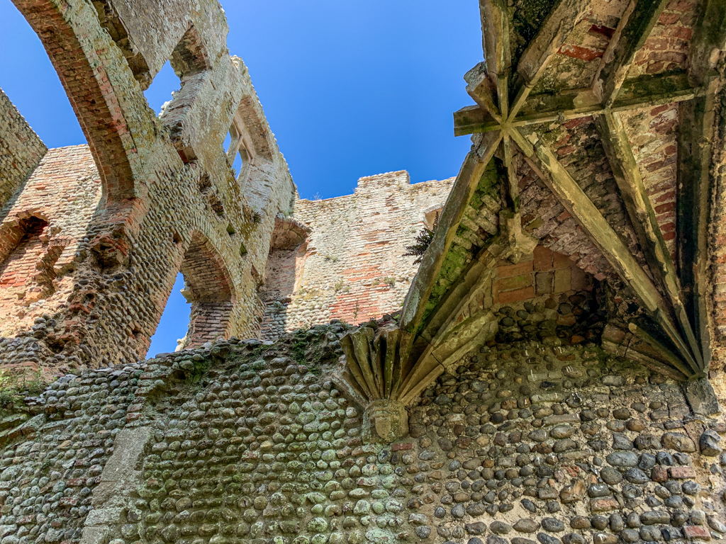 Ruined upper tier at Baconsthorpe Castle