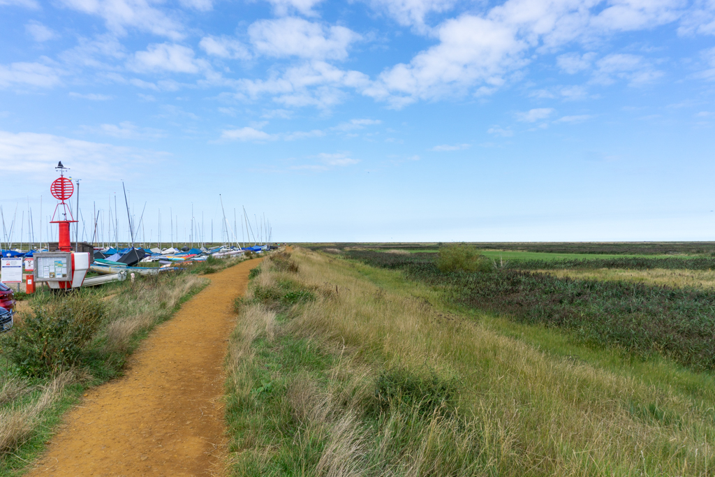 Path from Blakeney to Cley, Norfolk.