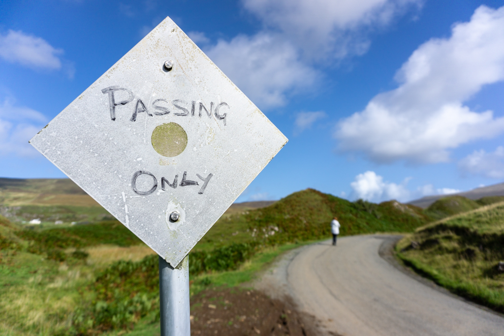Passing place skye