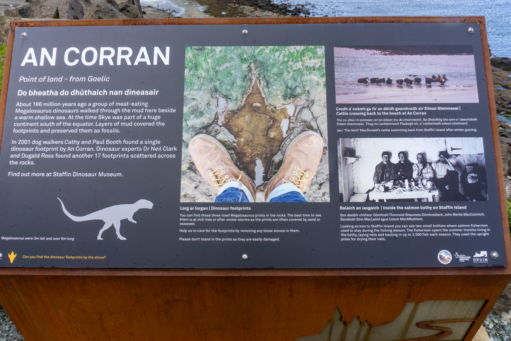 Sign at An Corran beach