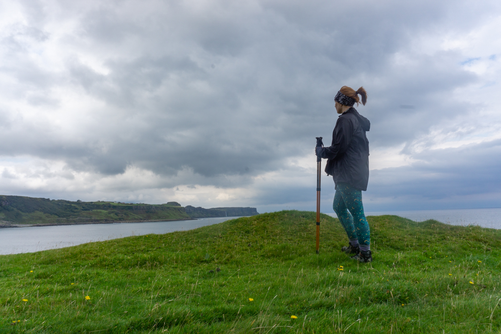 Girl at Brothers' Point, Isle of Skye