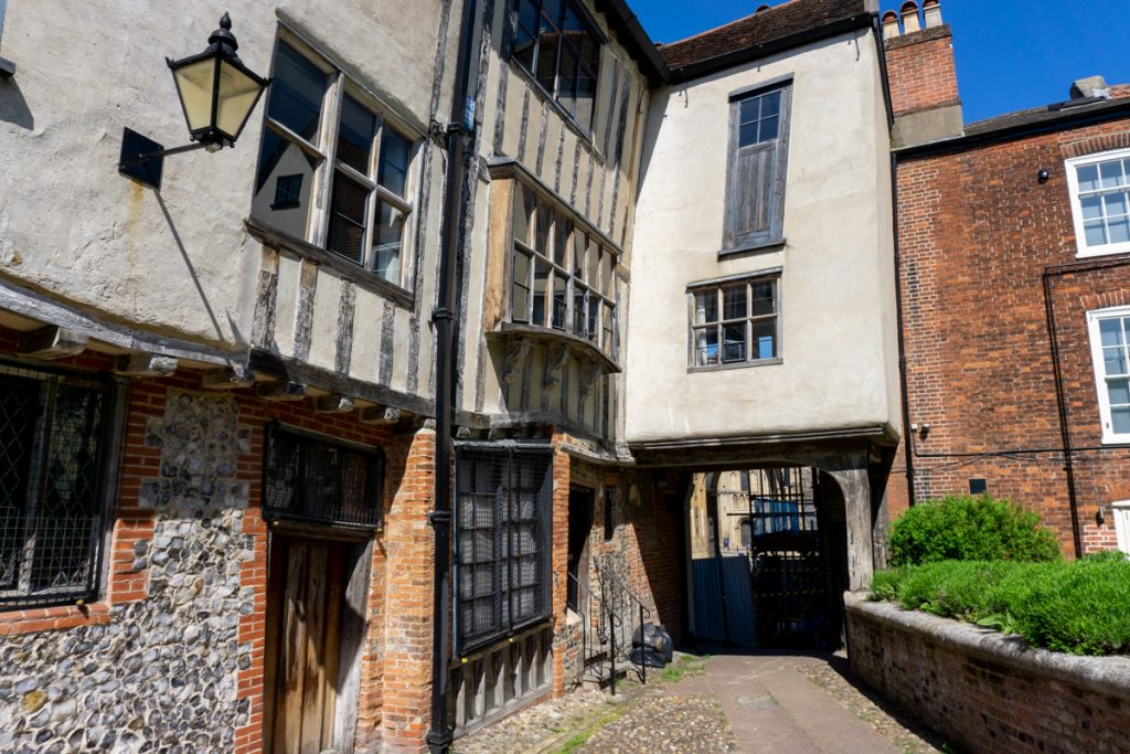 Crooked buildings in Norwich