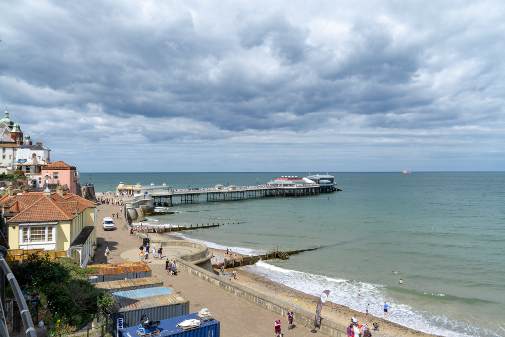 Cliff views over Cromer